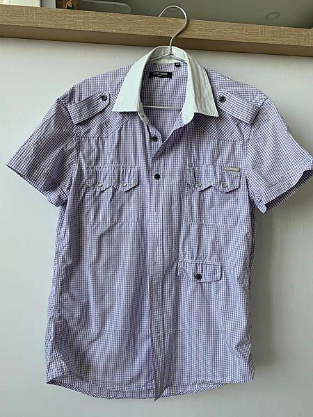 Стильная летняя мужская рубашка короткий рукав antony morato italy