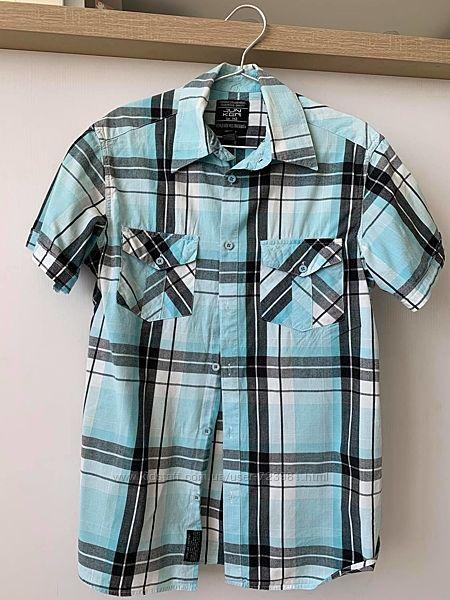 Классная мужская рубашка в клетку junker