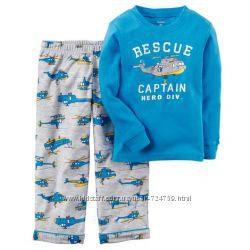 Пижамы Carters для мальчика хлопок флис 2Т