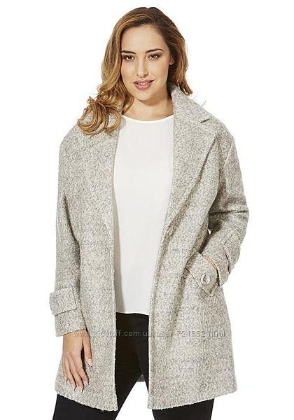 Крутое буклированное пальто бойфренд от f&f р. м-l 50 шерсть