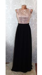 Вечернее новое шифоновое платье в пол от little mistress шифонпайетки р-р