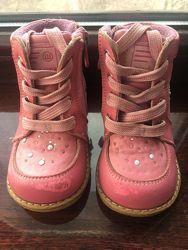 Кожанные ортопедические ботинки Шалунишка 22 размера