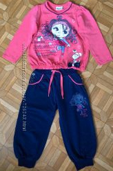 Спортивный костюм для девочки, штанишки и кофта 86-92 размер