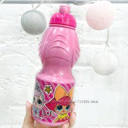 Бутылка-непроливайка пластиковая детская Stor LOL Surprise 400 мл розовая