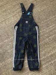 Adidas джинсовый комбез с х. б подкладкой одет 2 раза