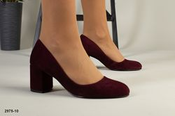 Замшевые Туфли на каблуке 6,5 см . 4 цвета. Люкс качество
