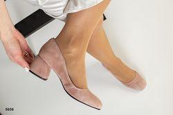 Туфли на каблуке 5,5 см. Натуральная замша.