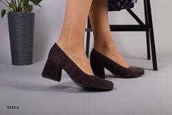 Туфли лодочки на каблуке 6,5 см , 4 цвета. Кожа, замш. Люкс качество