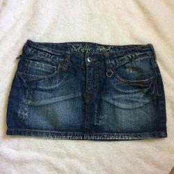 Джинсовая юбка, юбочка мини, терранова, спідниця, terranova, идеал