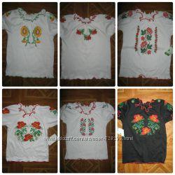 Блуза вышиванка. р. от  80см до 134см