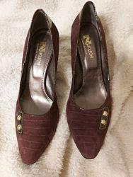 Туфли Napoleoni, Италия - новые, натур замша, 40р,26см, шикарная классика