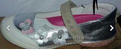 Серебристые кожаные туфли ddstep 25 размер