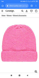Ярко-розовая шапочка George