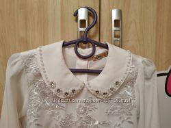 Нарядная белая блуза Турция р. 128-134