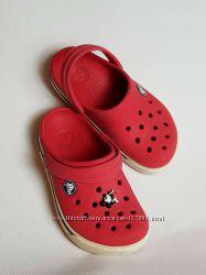 Crocs Crocband Clog красные С10 С11  оригинал 17, 17. 5 см