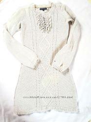 Теплое вязанное платье  Tommy Hilfigger 10 лет шерсть с шелком