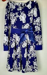Плотное трикотажное платье  из джерси 134-146