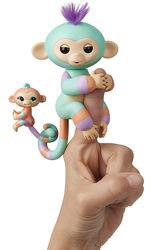 Интерактивная обезьянка Fingerlings Baby Monkey & Mini BFFs - Danny & Giann