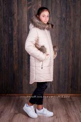 Куртка парка пальто ТМ  Малыш Esto для девочки разные цвета