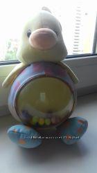 Мягкая развивающая игрушка, погремушка Жираф и Уточка Mothercare