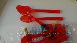 пластиковые дессертные ложки