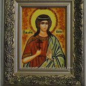 Святая Юлия икона из янтаря бесплатная доставка