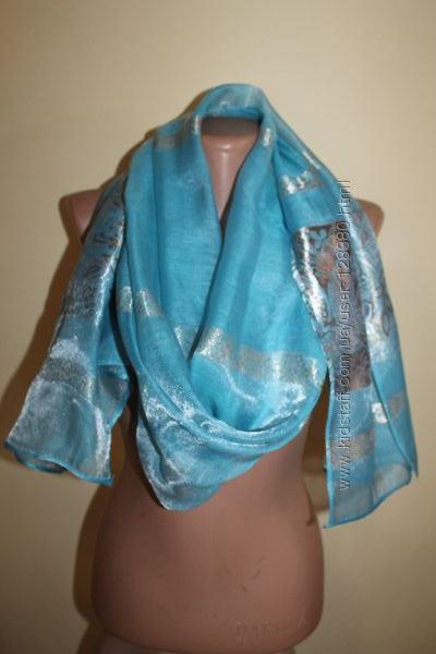 Большой и стильный шарф 100 Silk. Made in Cambodia