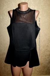 52 Eur. Dorothy Perkins стильная блузка с баской