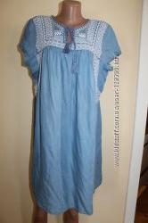 46 eur. Esprit  denim makers платье вышиванка. Очень красивое
