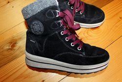 37 разм. Зима. Ботинки Ara Gore- Tex. Замша. не промокают Длина по внутренн