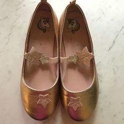 Туфли балетки с единорогом и звездами H&M, размер 34, стелька 21,5 см