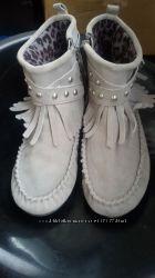 Ботинки next замш размер 32-33. в идеале