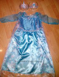 Карнавальное платье  Эльза очень красивое на 6-7 лет