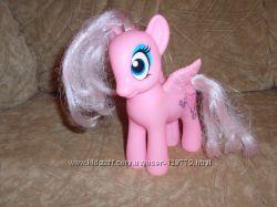 Игрушка лошадка, розовая  пони, светится.