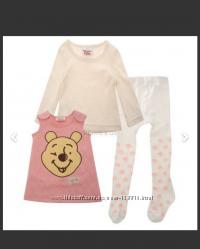 Комплект тройка для маленьких девочек Disney Winnie Pink Англия