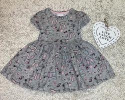 Платье с кроликами на 12-18 мес f&f