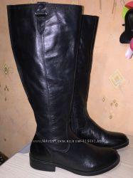 демисезонные кожаные сапоги TU