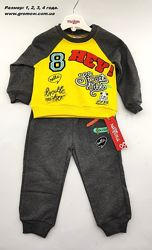 Детский костюм 1 2 и 4 года серый детские костюмы с рисунком штаны и кофта