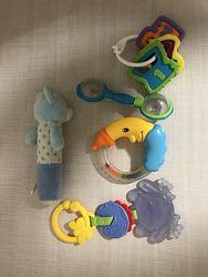 Игрушки грызуны погремушки музыкальные развивающиеся сортер кубики