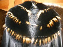 Френч пальто кожаный