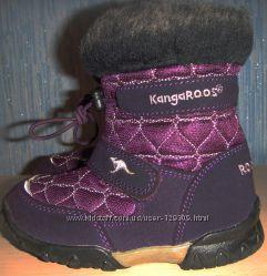 Ботинки Kangaroos, кожа, дев, зима, 24, б. у.