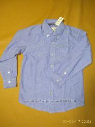 Лёгкая оксфордская рубашка на рост от 116 см, хлопок