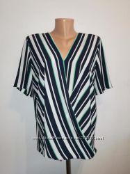 Классная блуза на запах в полоску Next xxl