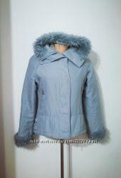 Итальянская удобная парка куртка нежно-голубого оттенка, Specchio, m-l