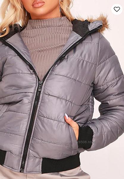 Rising. Товар из Англии. Деми куртка стеганная в серой палитре.