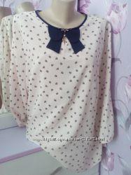 Модные и стильные женские блузки, много моделек и расцветок размеры 50-58.