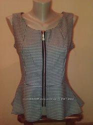 Модная и стильная женская блузка-жилетка,  размер 46 и 48. гусиная лапка