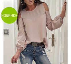 Хитовая новиночка 2019 Модная блузка 42-44, 46-48, 50-52 рр 6 расцветок