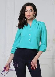 Супер-новиночка 2020 42-44, 46-48 и 50-52 рр, 6 расцветокСтильная блузка