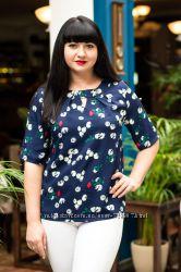Модная и стильная легкая женская блузка, весна 2019 48, 50, 52, 54, 56, 58